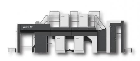 AKIYAMA JP40 Double-Sided Multi-Color Sheet-Fed Offset Printing Machine